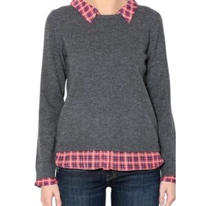 NWOT Joie Gray Wool Cashmere Collared Sweater